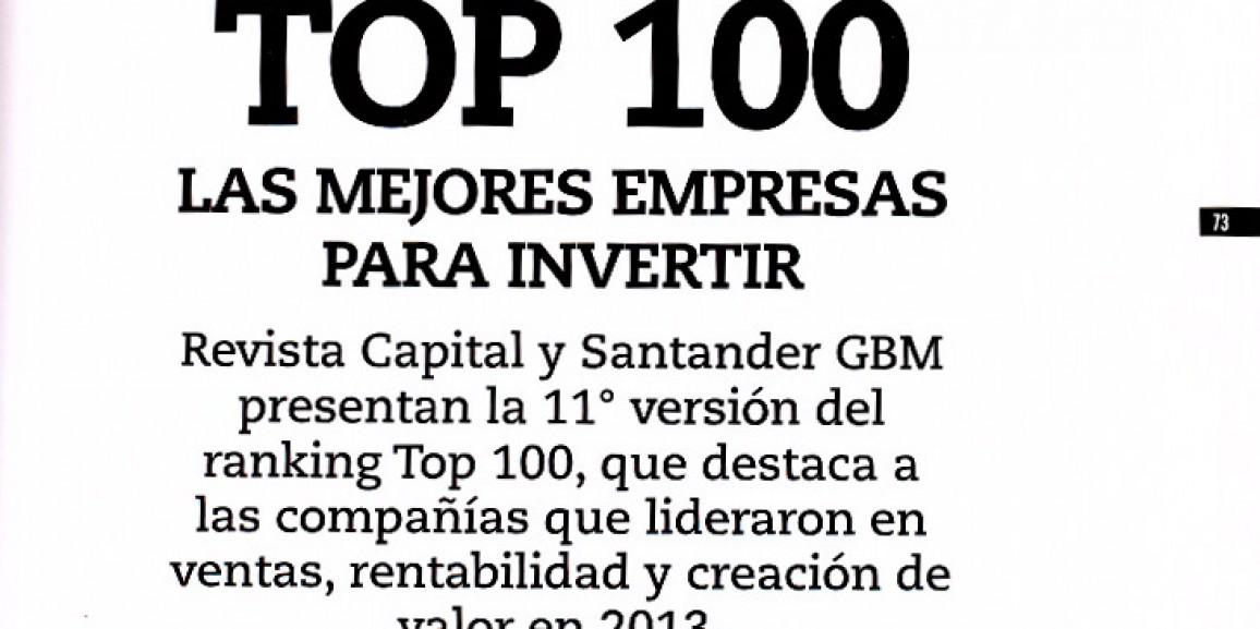 100 Mejores Empresas para Invertir Ranking Capital – Santander GBM