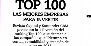 100 Best Companies to Invest Ranking Capital – Santander GBM