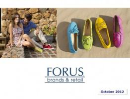 Forus Presentation to Investors Oct 2012