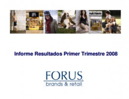 Financial Report Forus 1Q 2008