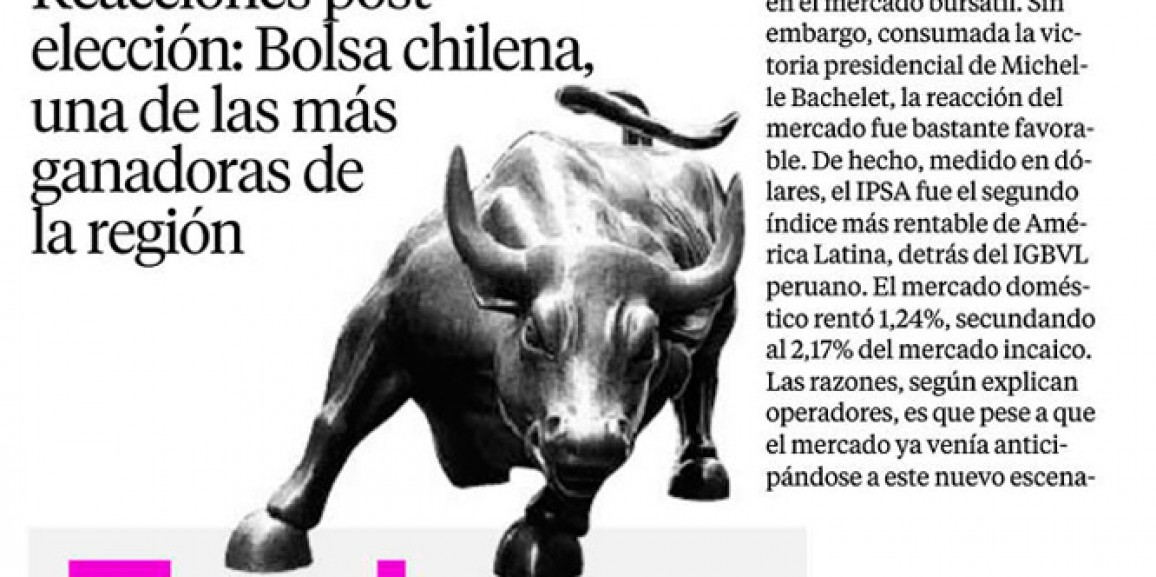 Post election reaction: Chilean Stock Exchange, one of the region winners