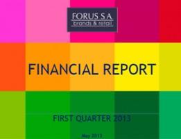 Financial Report Forus 1Q 2013