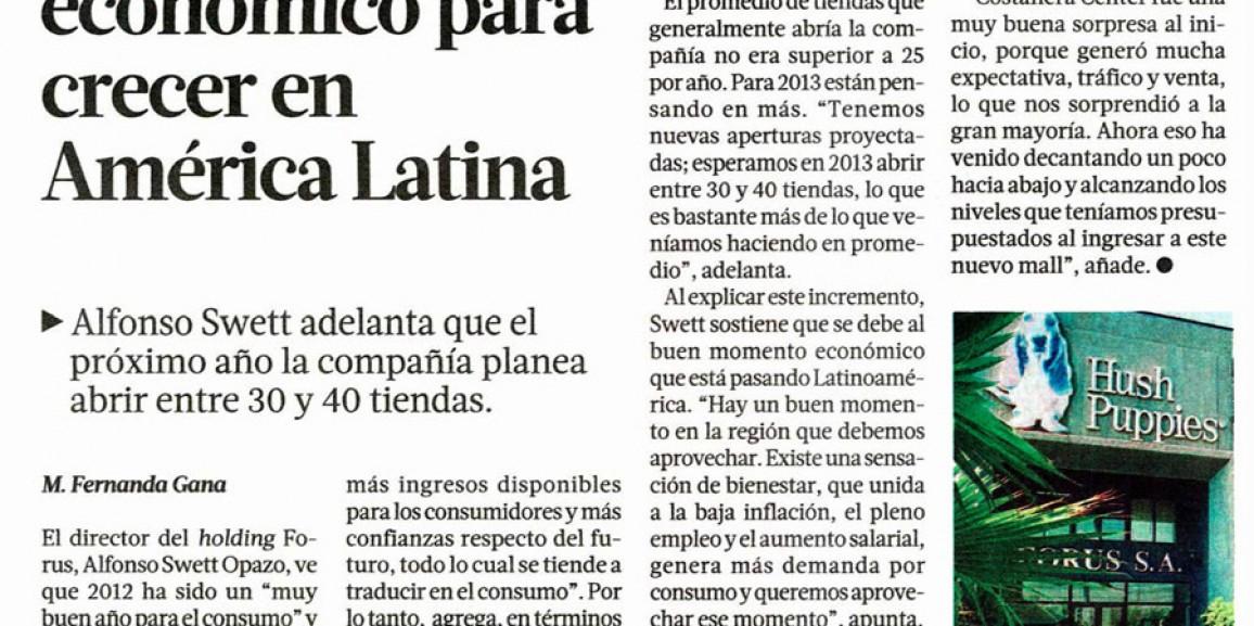 Forus destaca buen momento económico para crecer en América Latina