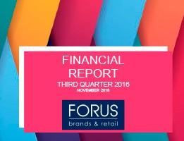 Financial Report Forus 3Q 2016