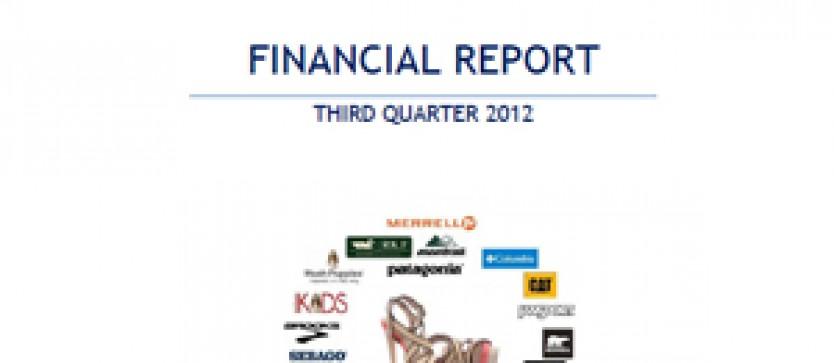 Financial Report Forus 3Q 2012