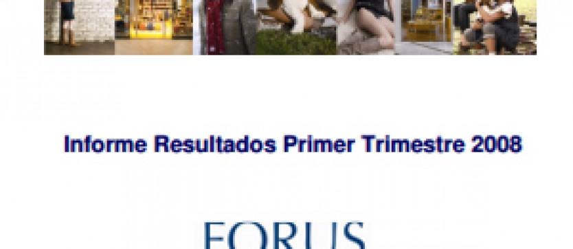 Financial Report Forus 1Q 2008