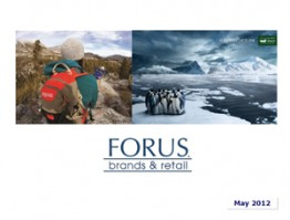 Forus Presentation to Investors May 2012