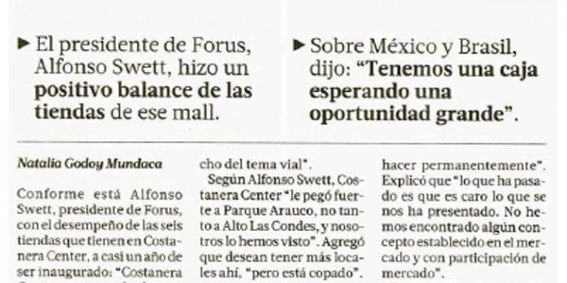 Costanera Center le pegó fuerte a Parque Arauco, no tanto a Alto Las Condes