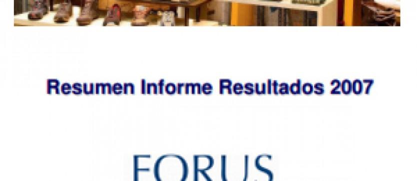 Resultados Trimestrales Forus 2007
