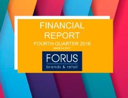 Financial Report Forus 4Q 2016