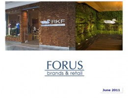 Forus Presentation to Investors June 2011