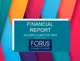Financial Report Forus 2Q 2016