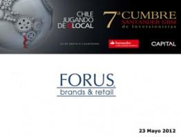 Forus 7° Cumbre Santander – 23 Mayo 2012