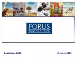 Forus Resultados 2008 Marzo – 2009