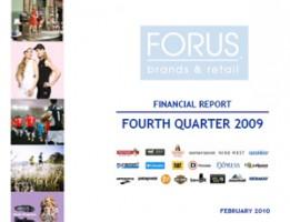Financial Report Forus 4Q 2009
