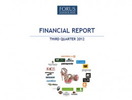 Financial Report Forus 3Q 2012