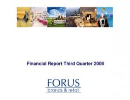 Financial Report Forus 3Q 2008