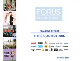 Financial Report Forus 3Q 2009