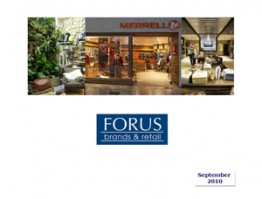 Forus Presentation to Investors – Sept. 2010