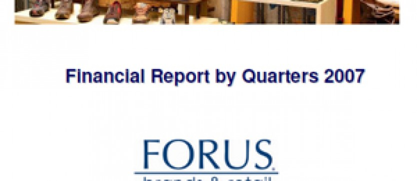 Financial Report Forus by Quarters 2007
