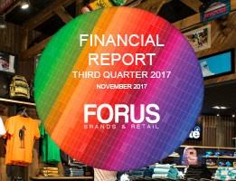 Financial Report Forus 3Q 2017